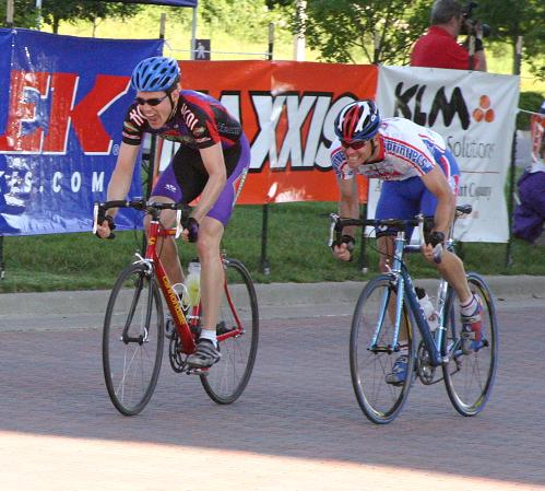 Jason finishing the KS State Crit